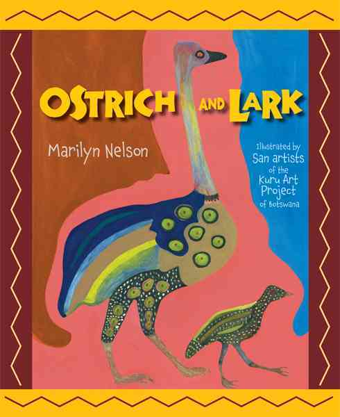 Ostrich and Lark By Nelson, Marilyn/ San Artists of the Kuru Art Project in Botswana (ILT)